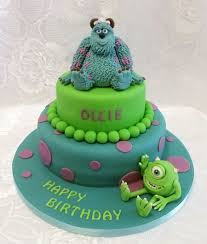 monsters inc birthday cake monsters inc sulley and mike two tiered birthday cake models