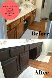 bathroom vanity transformation with diy chalk type paint farm