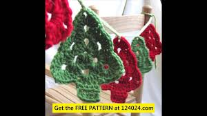 crochet christmas garland youtube