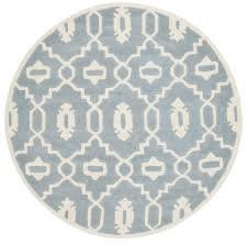 transitional moroccan trellis navy blue area rug feet round
