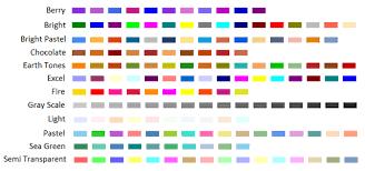 list of color asp net ms chart for net predefined palettes color list