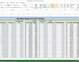 Spreadsheet For Sales Tracking by Etsy Monthly Sales Tracker Microsoft Excel Spreadsheet