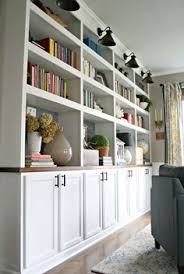 check out the sky blue back painting on these white bookcases