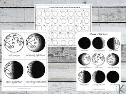kindergarten worksheets and games free moon phases worksheets