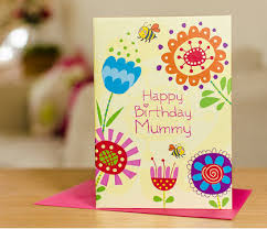 cards with memories happy birthday mummy flowers greetings card