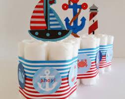 nautical diaper cake etsy
