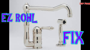 Youtube Replace Kitchen Faucet Rohl Faucet U0026 Soap Pump Youtube