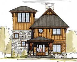 plan 18769ck cottage with third floor viewing room mountain