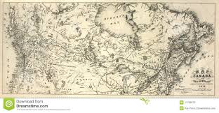 Canada States Map by 19th Century Map Of Canada Stock Photos Image 11705073