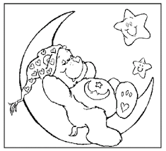 care bears sleeping moon coloring pages
