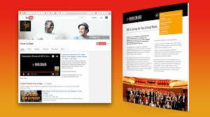 brand development u0026 web design for leading media training college