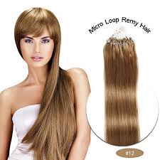 22 inch extensions brown colour micro ring human hair extensions vhair