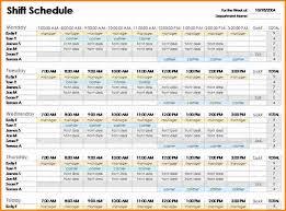 Weekly Employee Shift Schedule Template Excel 6 Employee Shift Schedule Template Authorization Letter