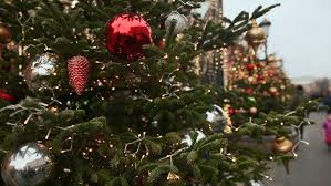 New Year Tree Decoration Toys by New Year U0027s Toys On Street Christmas Tree Stock Footage Video