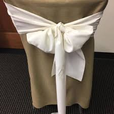 burlap chair covers chair covers sashes a s party rental in cincinnati oh