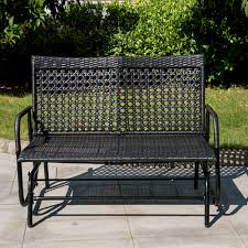 Patio Loveseat Glider All Weather Patio Garden Wicker Table And Chair Set Wicker