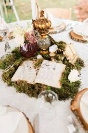 Vintage Flower Table Decorations Whimsical Moss And Vintage Book Centerpiece Chelsea Michigan