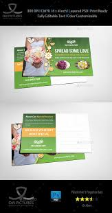 flower shop postcard template by owpictures graphicriver