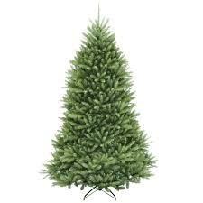 national tree company 7 5 ft dunhill fir hinged artificial