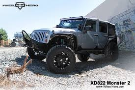 monster jeep jk xd series xd822 monster 2 new release wheelhero com jeep