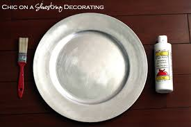 chic on a shoestring decorating handprint christmas plate