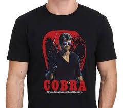 sylvester t shirt cobra sylvester stallone vintage t shirt men 100 cotton