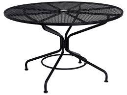 black wrought iron patio table