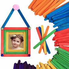 50pcs lot craft wooden puzzle for children ice cream stick arts