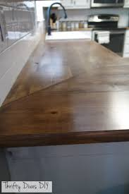 thrifty divas diy wide plank butcher block countertops