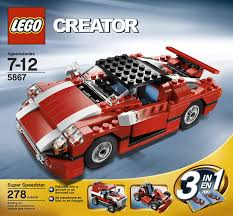 lego sports car lego creator red car 5867 amazon co uk toys u0026 games
