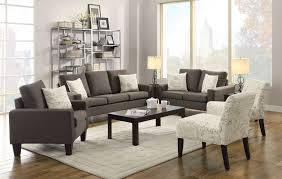 Charcoal Living Room Furniture Bachman Grey Living Room Set From Coaster 504764 Coleman Furniture