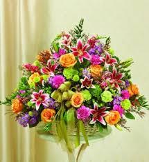 sympathy basket pastel sympathy basket a better bloom florist