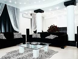 living room design with black leather sofa home interior design