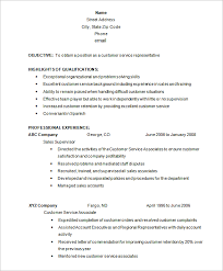 customer service resume customer service resume template 8 free sles exles format