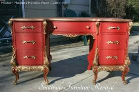 diy metallic paint on furniture modern masters cafe blog