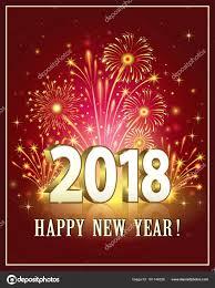 happy new year post card postcard happy new year 2018 stock vector seriga 161146336