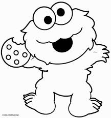 the most brilliant cookie monster coloring pages regarding really