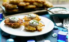 latke mix panko latkes with horseradish sour