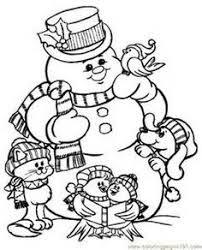adorable snowman coloring collage lumiukkoja