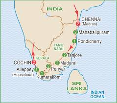 Chennai India Map by South India March 2018 Craig Travel