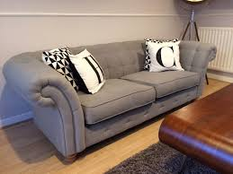 Dfs Chesterfield Sofa Dfs Chesterfield Style 3 Seater Sofa In Grey Provisonaly Sold