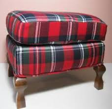 Plaid Ottoman Tartan Plaid Ottoman Footstool For Wing Chair Fits American