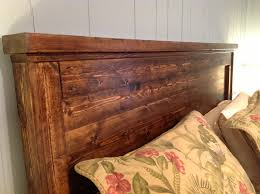 Bedroom Reclaimed Wood Headboards Featuring Varnished Reclaim Wood