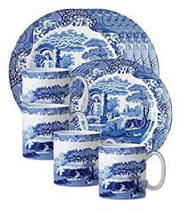spode blue italian 12 set dinnerware sets