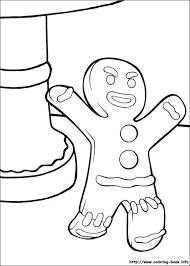 gingerbreadman coloring page 63 best shrek images on pinterest shrek coloring and