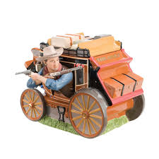 john wayne western movies stagecoach cookie jar collectibles