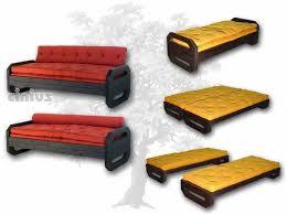 lit transformé en canapé cinius canapé lit à deux places futon modèle ops structure en