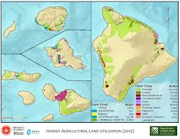 Map Of Hawaii Big Island Department Of Agriculture Statewide Agricultural Baseline Project