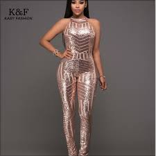 one jumpsuits womens formal evening sequined jumpsuits overalls one