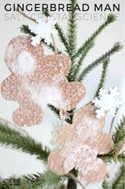 growing salt crystals gingerbread man science activity for kids